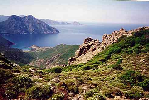 Girolata Bucht Korsika